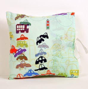 Traffic Jam Kid Size Cushion by scamp gifts