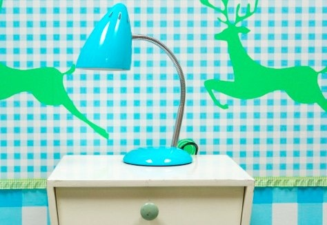 Retro Style Lamp in various colours