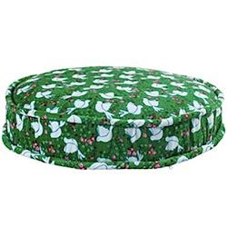 Floor cushion - green dove print - by Rice