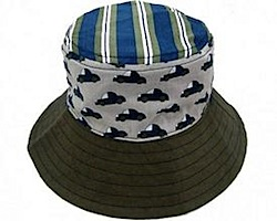 LocoLili Hats Cars Reversible Sun Hat