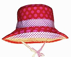 LocoLili Hats Red Polka Dot Reversible Sun Hat