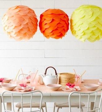 paper lanterns at Martha Stewart