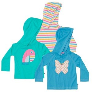 APPLIQUE AND PRINT HOODED TOP by Green Baby