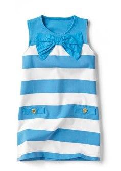 zara BLUE STRIPED DRESS WITH BOW
