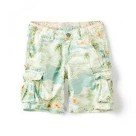 tropical print shorts
