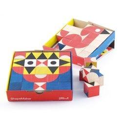 ShapeMaker Wooden Toy 25 Rubberwood Blocks