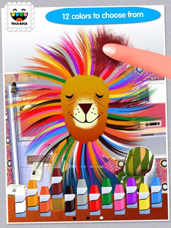 Toca Hair Salon iPhone, iPod and iPad game