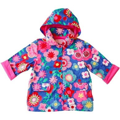 Raincoat Blue Multi Flower by Toby Tiger