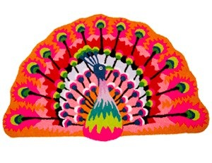 peacock rug by rice dk