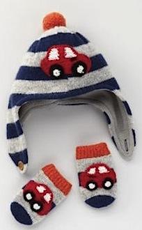 Boden Car Hat & Mittens Set