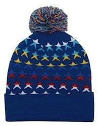Star ski bobble hat