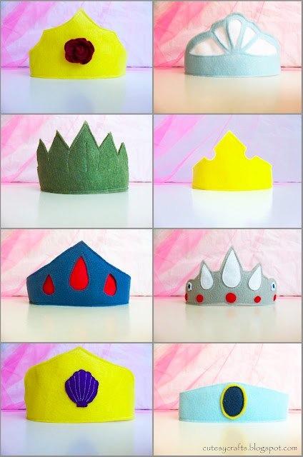 felt princess crowns by cutesy crafts