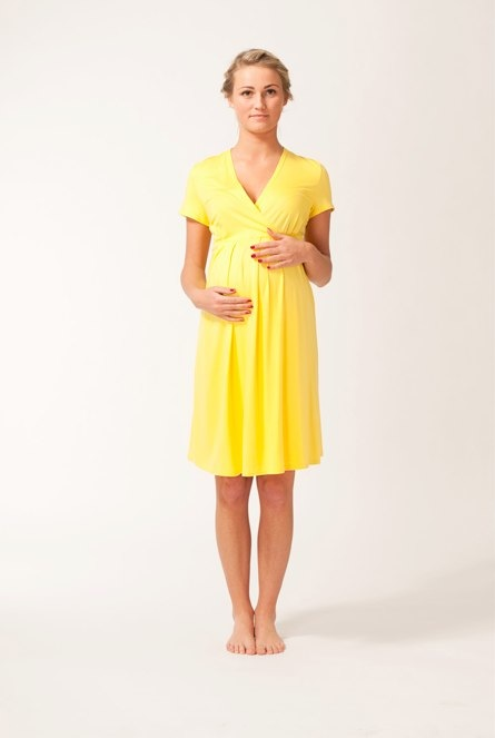 Yellow Daisies Maternity Dress by Alice B
