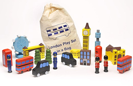London in a bag play set