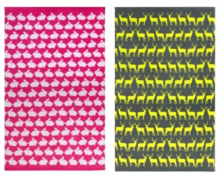 Anorak Beach Towels - Neon - Stag and Rabbit