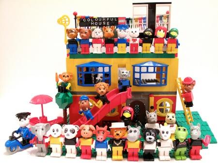 Vintage Lego Fabuland figures