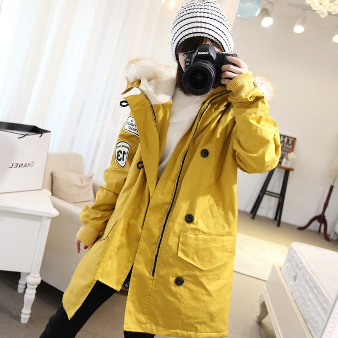Yellow Maternity Coat