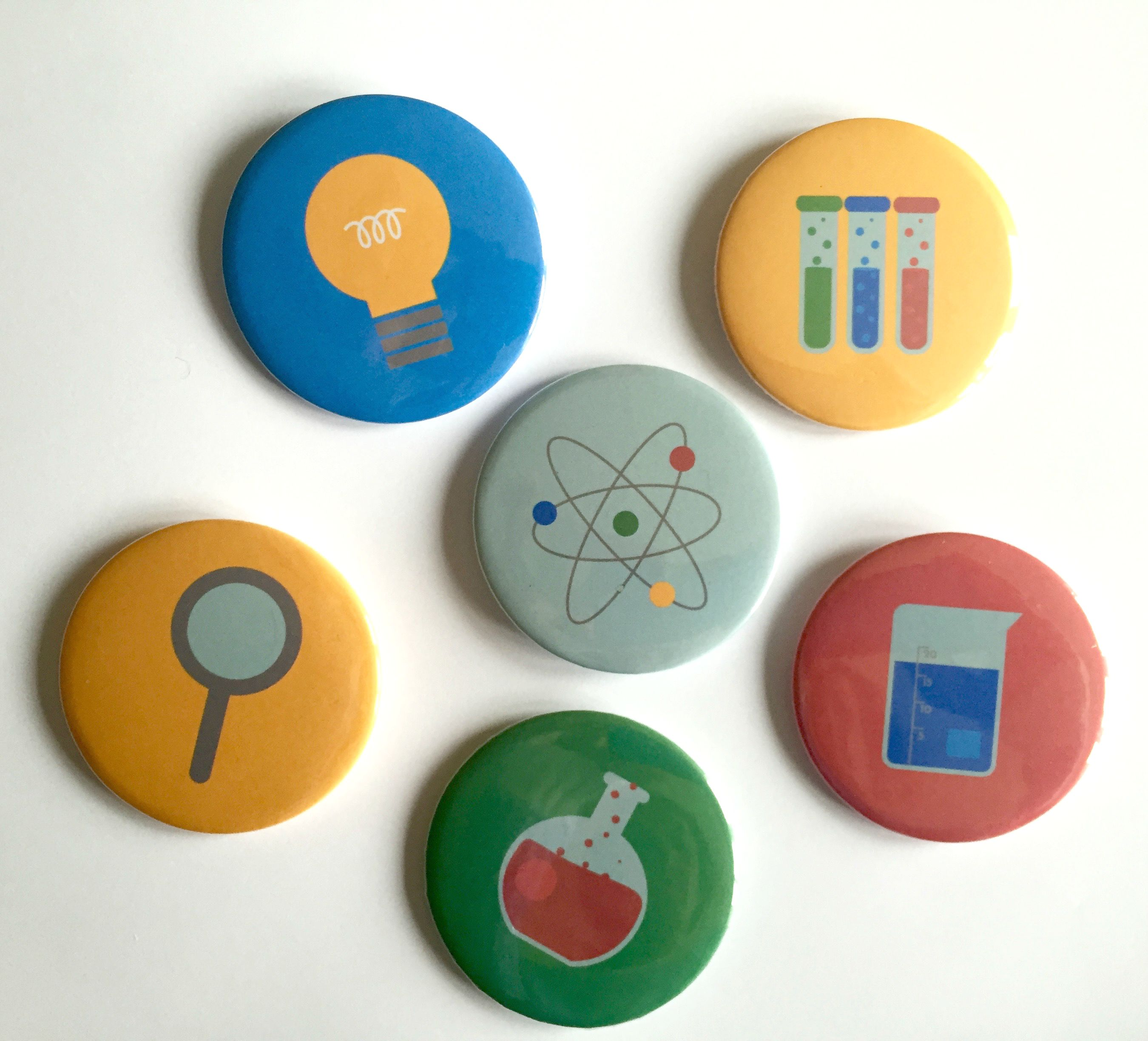 Science-Badges-Magnets