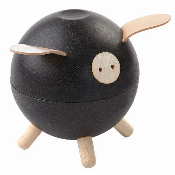 Plan Toys Piggy Bank in Black