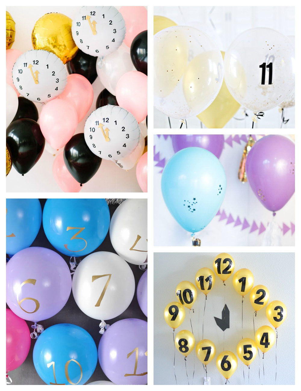 NYE Balloon Countdown Clock